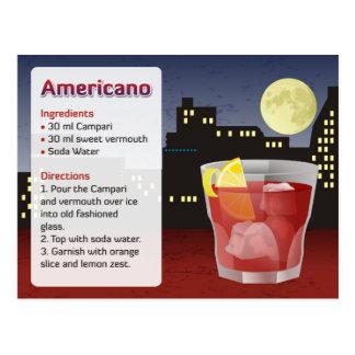 Americano Recipe Card