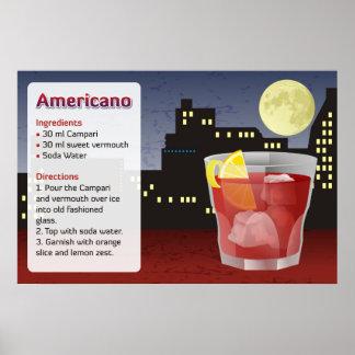 Americano Recipe Poster