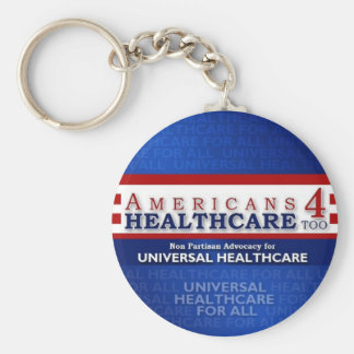 Americans 4 Healthcare Basic Round Button Key Ring