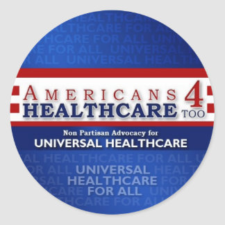 Americans 4 Healthcare Too stickers