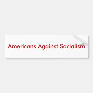 Americans Against Socialism Bumper Sticker