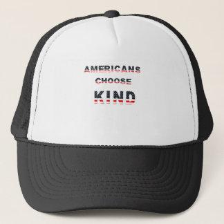 Americans choose kind trucker hat