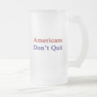 Americans Don t Quit Frosted Beer Mugs
