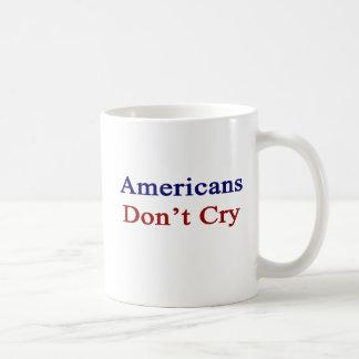 Americans Don't Cry Basic White Mug