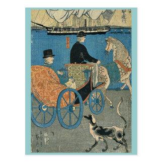 Americans enjoying Sunday by Utagawa,Sadahide Postcard