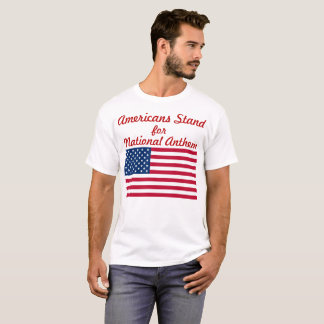 Americans Stand with Flag T-Shirt