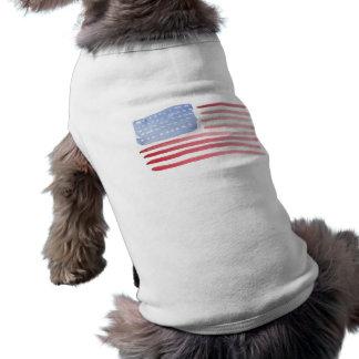Americans USA Flag Sleeveless Dog Shirt