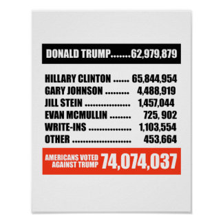 Americans Voted Against Trump -- Poster