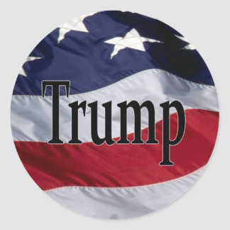 Americas 45th President Trump Classic Round Sticker
