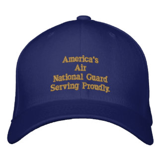 America's Air National Guard. Embroidered Baseball Caps