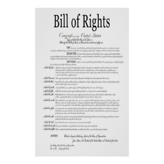 AMERICA's BILL of RIGHTS CLASSIC WHITE Poster