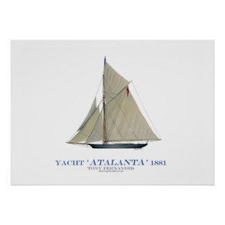 americas cup yacht 'atalanta' 1881, tony fernandes poster