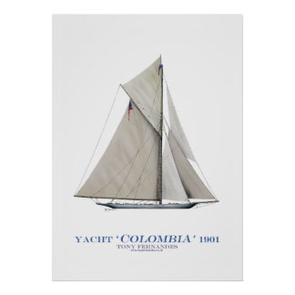 americas cup yacht 'colombia', tony fernandes posters