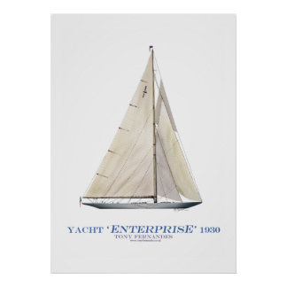 americas cup yacht enterprise 1930, tony fernandes poster