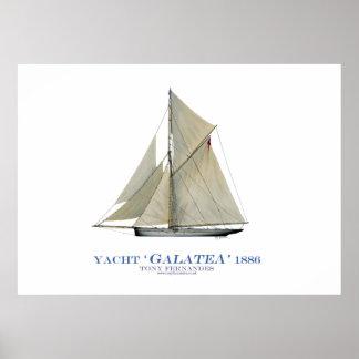 americas cup yacht 'galatea' 1886, tony fernandes print