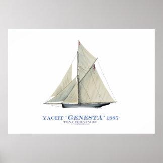americas cup yacht 'genesta' 1885, tony fernandes poster