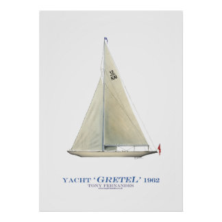 americas cup yacht 'gretel', tony fernandes poster
