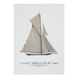 americas cup yacht 'reliance', tony fernandes print