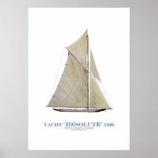 americas cup yacht 'resolute 1920', tony fernandes print