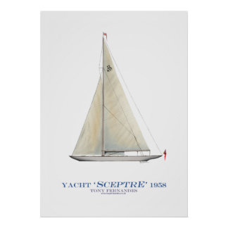americas cup yacht 'sceptre', tony fernandes poster