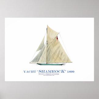 americas cup yacht 'shamrock', tony fernandes poster