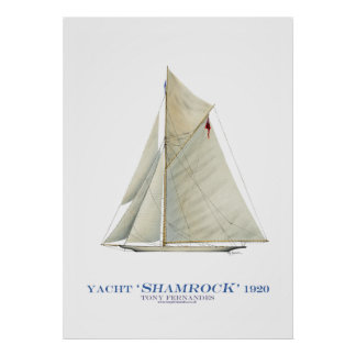 americas cup yacht 'shamrock', tony fernandes print