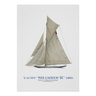 americas cup yacht 'shamrock', tony fernandes posters
