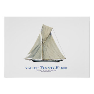 americas cup yacht 'thistle', tony fernandes print