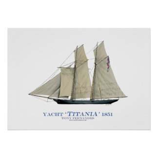 americas cup yacht 'titania 1851', tony fernandes posters