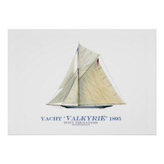 americas cup yacht 'valkyrie', tony fernandes poster