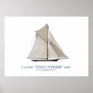 americas cup yacht 'volunteer', tony fernandes posters