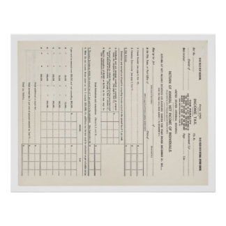 America's First Income Tax Form 1040 Poster