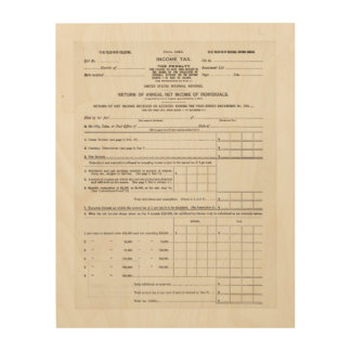 America's First Income Tax Form Wall Art