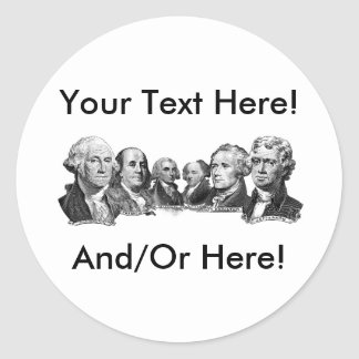 America's Founding Fathers Round Sticker