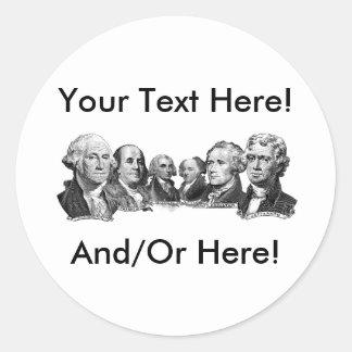 America's Founding Fathers Round Sticker