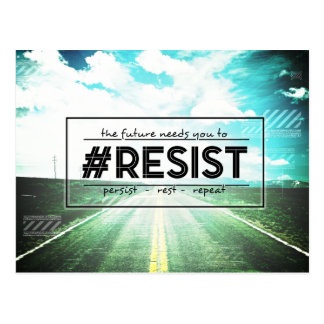 America's Future RESIST Protest Art Postcard