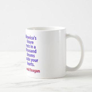 America's Future Rests  - Ronald Reagan Coffee Mug