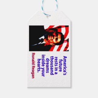 America's Future Rests  - Ronald Reagan Gift Tags