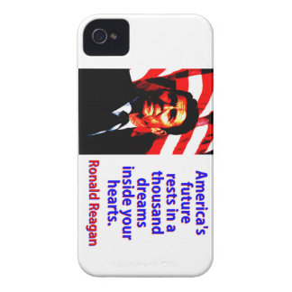 America's Future Rests  - Ronald Reagan iPhone 4 Covers