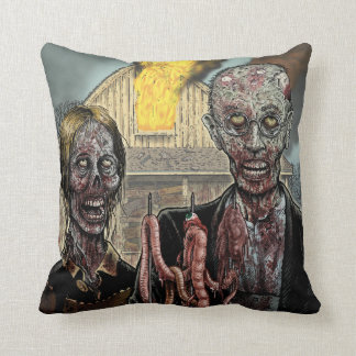 """America's Got Zombies"" Pillow"