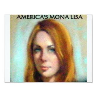 AMERICA'S MONA LISA 11 CM X 14 CM INVITATION CARD
