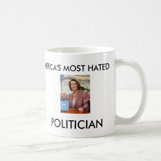 AMERICA'S MOST HATED POLITICIAN COFFEE MUG