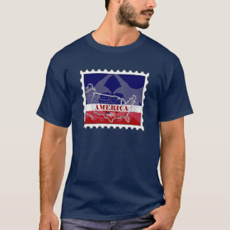 America's Named States Bald Eagle Stamp T-Shirt