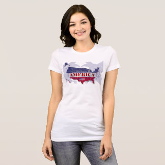 America's Named States Blue Bald Eagle T-Shirt