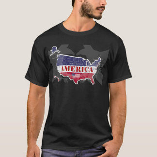 America's Named States Blue Bald Eagle T-Shirt-2 T-Shirt