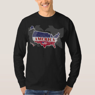 America's Named States Blue Bald Eagle T-Shirt-3 T-Shirt