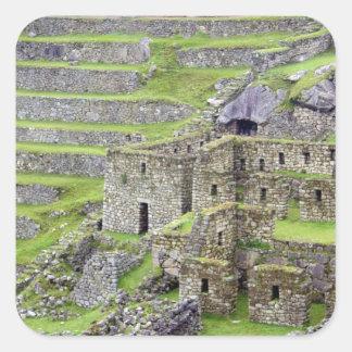 Americas, Peru, Machu PIcchu. The ancient 2 Square Sticker