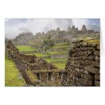 Americas, Peru, Machu PIcchu. The ancient Greeting Card