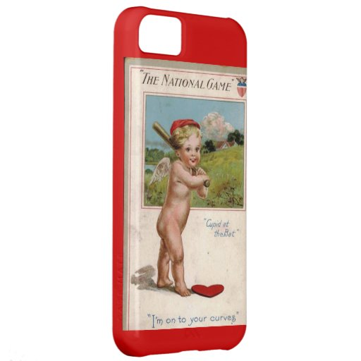 America's s Pastime Valentine's Day Cupid at Bat Case For iPhone 5C