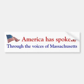 America's voice bumper sticker